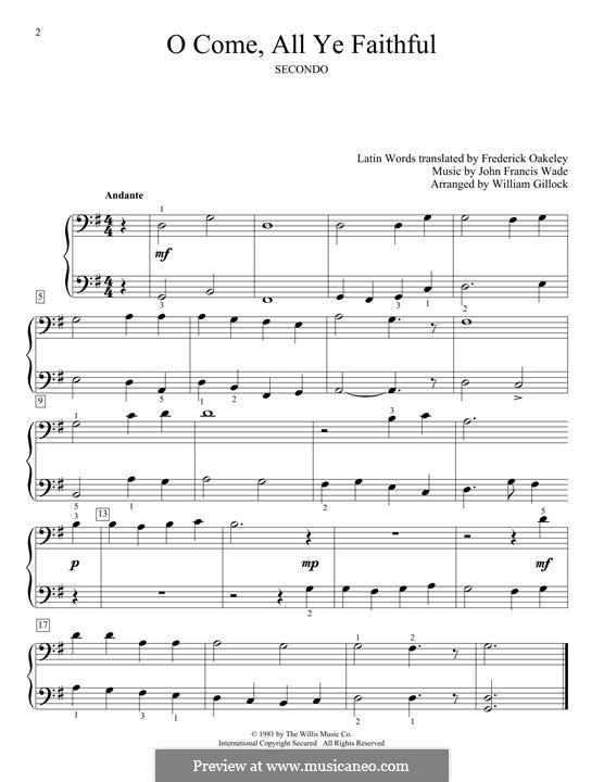 Придите к Младенцу, для фортепиано: Для одного исполнителя by Джон Фрэнсис Уэйд