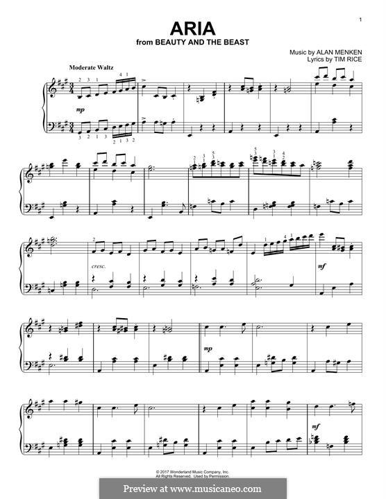 Aria: Для фортепиано by Alan Menken
