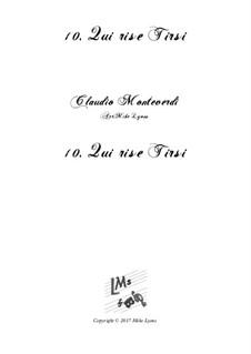 Тетрадь 6 (для пяти голосов), SV 107-116: No.10 Qui rise Tirsi. Arrangement for quintet instruments by Клаудио Монтеверди