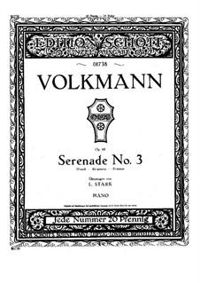 Серенада для струнного оркестра No.3, Op.69: Для фортепиано by Роберт Фолькманн