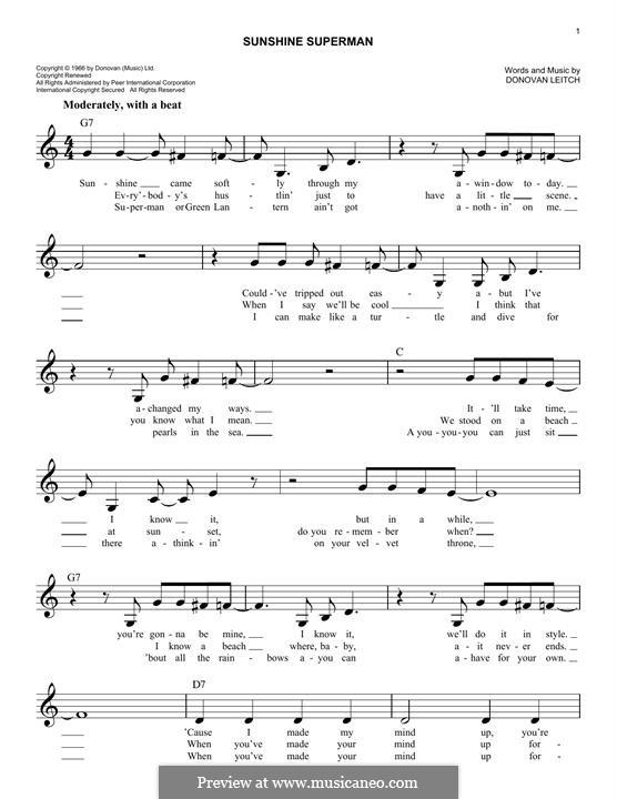 Sunshine Superman: Мелодия by Donovan Leitch