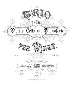 Фортепианное трио фа мажор, Op.3: Партитура by Пер Винге