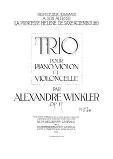 Фортепианное трио фа-диез минор, Op.17: Партитура by Александр Винклер