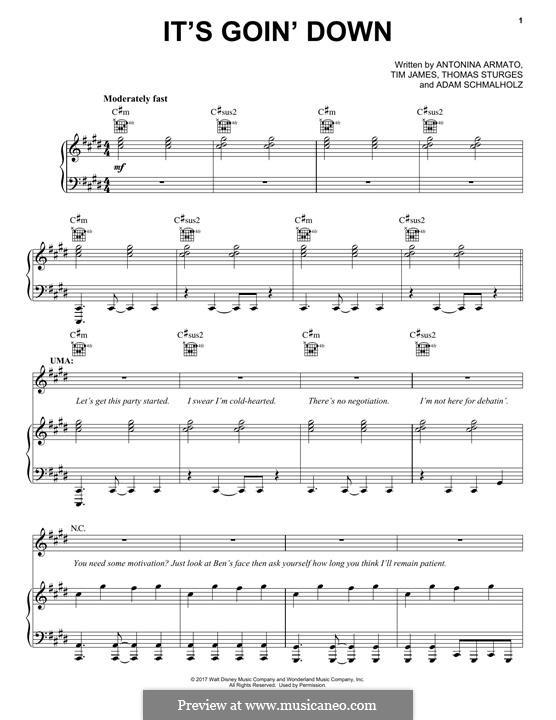 It's Goin' Down: Для голоса и фортепиано (или гитары) by Adam Schmalholz, Antonina Armato, Thomas Armato Sturges, Timothy James