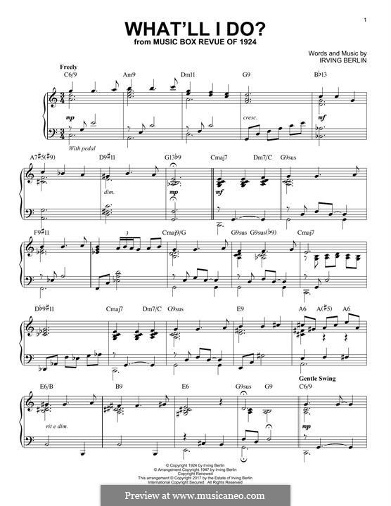 What'll I Do?: Для фортепиано by Ирвинг Берлин