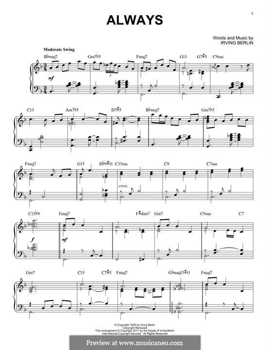 Always: Для фортепиано by Ирвинг Берлин