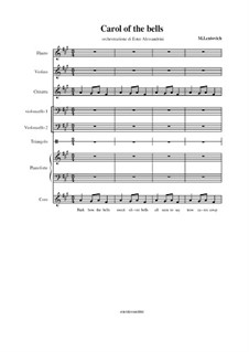 Carol of the Bells: For large ensemble by Mykola Leontovych