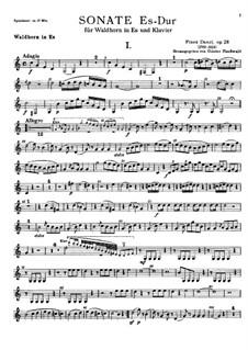 Соната для валторны и фортепиано ми-бемоль мажор, Op.28: Сольная партия by Франц Игнац Данци