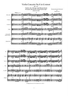 Концерт для скрипки с оркестром No.8 соль минор, RV 332: Score, parts by Антонио Вивальди