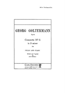 Концерт для виолончели с оркестром No.5 ре минор, Op.76: Сольная партия by Георг Гольтерманн