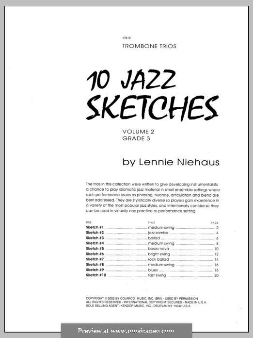 10 Jazz Sketches: Volume 2 by Lennie Niehaus