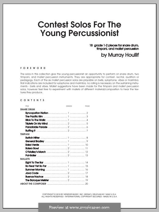 Contest Solos: For the Young Percussionist by Murray Houllif