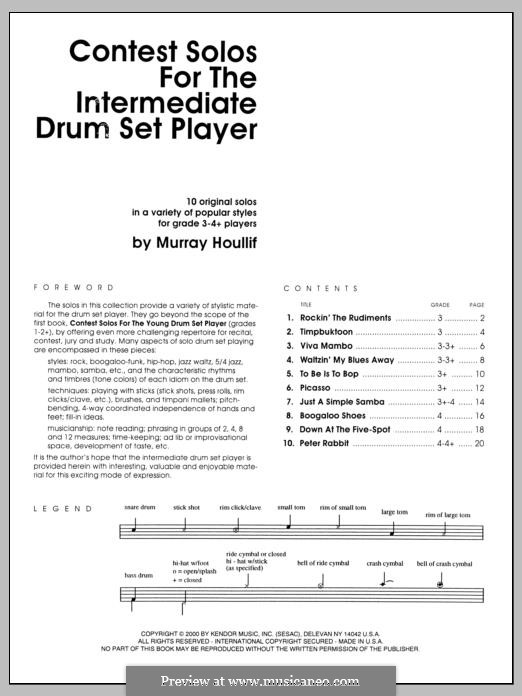 Contest Solos: For the Intermediate Drum Set Player by Murray Houllif