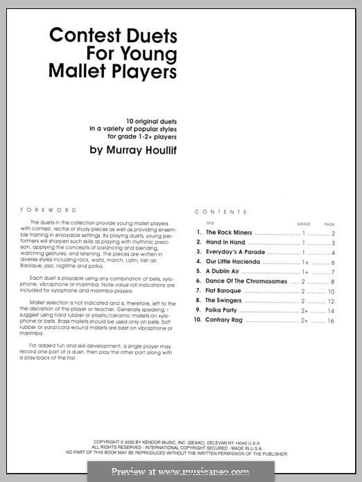 Contest Duets: For the Young Mallet Players by Murray Houllif