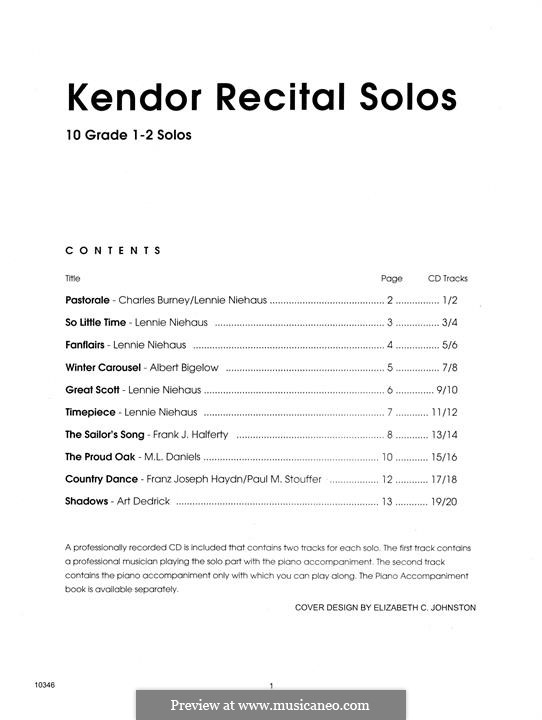 Kendor Recital Solos - Baritone: Solo book by Lennie Niehaus, Frank J. Halferty, Paul M. Stouffer, Albert Bigelow
