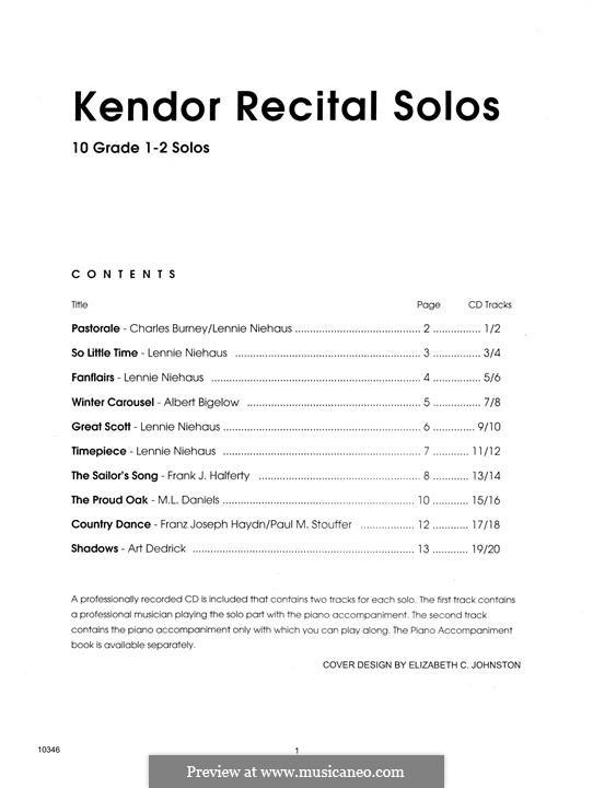 Kendor Recital Solos - Baritone: Solo book by Lennie Niehaus, Frank J. Halferty, Paul M. Stouffer, Albert Bigelow