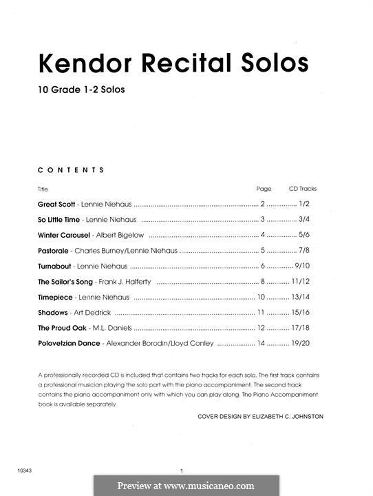 Kendor Recital Solos - Trombone: Solo book by Lennie Niehaus, Frank J. Halferty, Lloyd Conley, Albert Bigelow, M. L. Daniels