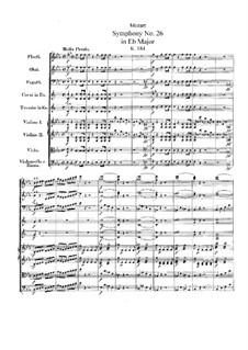 Симфония No.26 ми-бемоль мажор, K.184: Партитура by Вольфганг Амадей Моцарт
