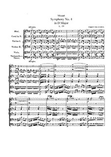 Симфония No.4 ре мажор, K.19: Симфония No.4 ре мажор by Вольфганг Амадей Моцарт