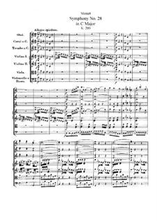 Симфония No.28 до мажор, K.200: Партитура by Вольфганг Амадей Моцарт