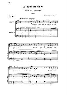 Три песни, Op.8: No.1 Au bord de l'eau (At the Water's Edge) by Габриэль Форе