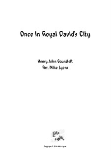 Once in Royal David's City: For brass band by Henry John Gauntlett