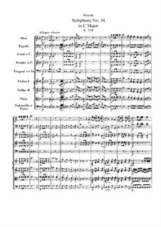 Симфония No.34 до мажор, K.338: Партитура by Вольфганг Амадей Моцарт