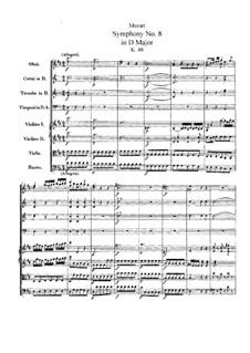 Симфония No.8 ре мажор, K.48: Симфония No.8 ре мажор by Вольфганг Амадей Моцарт
