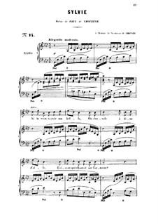 Три песни, Op.6: No.3 Sylvie, for high voice by Габриэль Форе