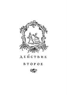 Вся опера: Акт II, для солистов, хора и фортепиано by Вольфганг Амадей Моцарт