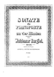 Соната для фортепиано в четыре руки, Op.23: Соната для фортепиано в четыре руки by Вольдемар Баргиль
