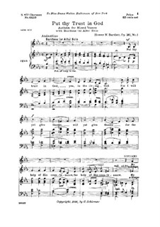 Put Thy Trust in God, Op.261 No.1: Put Thy Trust in God by Гомер Ньютон Бартлетт