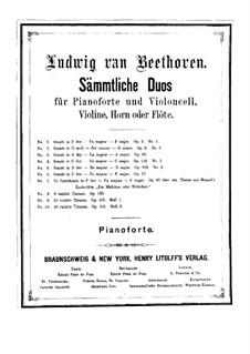 Избранные дуэты: Книга I by Людвиг ван Бетховен