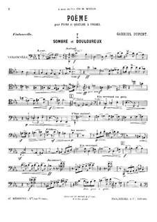 Поэма для фортепианного квинтета: Партия виолончели by Габриэль Дюпон