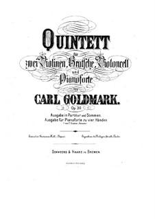 Фортепианный квинтет No.1 си-бемоль мажор, Op.30: Партитура и партии by Карл Голдмарк