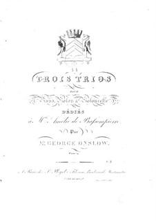 Три фортепианных трио, Op.14: Трио No.3 ре мажор by Жорж Онсло