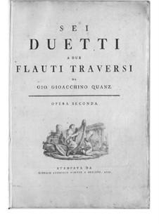 Шесть дуэтов для двух флейт, QV 3:2 Op.2: Сборник by Иоганн Иоахим Квантц