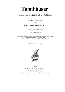 Вся опера: Для голосов и фортепиано (Французский текст) by Рихард Вагнер
