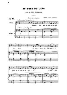 Три песни, Op.8: No.1 Au bord de l'eau (At the Water's Edge), for medium voice by Габриэль Форе