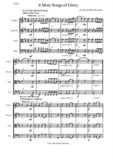 6 more Songs of Glory: Для струнного квартета by Самюэл  Уэбб, Philip Paul Bliss, Albert Lister Peace, William Howard Doane, Isaac Baker Woodbury, Grant Tullar