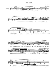 Xis No.7 for Bass clarinet, MVWV 559: Xis No.7 for Bass clarinet by Maurice Verheul