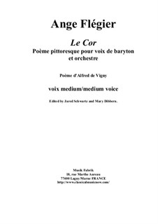 Le Cor: For baritone voice and orchestra by Анж Флегье
