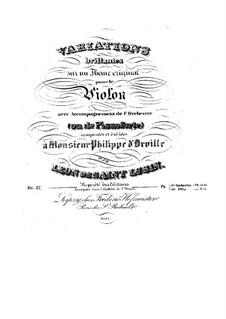 Блестящие вариации для скрипки с оркестром, Op.37: Блестящие вариации для скрипки с оркестром by Леон де Сен-Любен