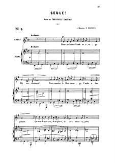 Две песни, Op.3: No.1 Seule! (Alone), for medium voice by Габриэль Форе