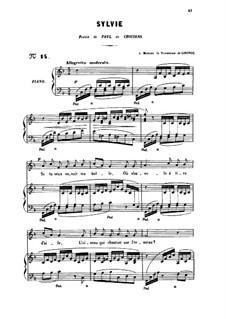Три песни, Op.6: No.3 Sylvie, for medium voice by Габриэль Форе