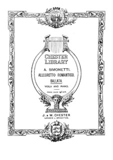 Баллада для альта и фортепиано: Баллада для альта и фортепиано by Ашиль Симонетти