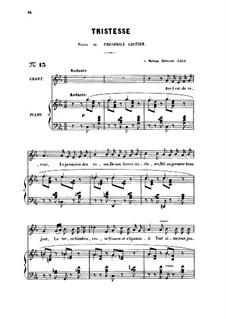 Три песни, Op.6: No.2 Tristesse, for medium voice by Габриэль Форе