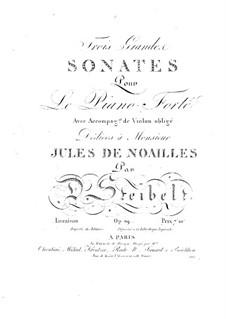Три сонаты для скрипки и фортепиано, Op.69: Три сонаты для скрипки и фортепиано by Даниэль Штайбельт
