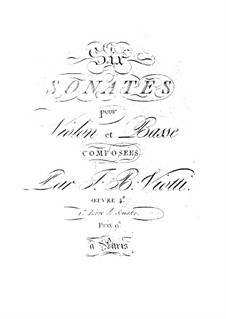 Шесть сонат для скрипки и виолончели, Op.4: Тетрадь 1, WV:1-6 by Джованни Баттиста Виотти