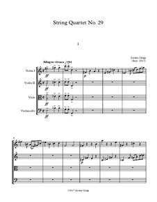 String Quartet No.29: String Quartet No.29 by Jordan Grigg